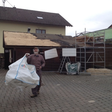 Rückbau der Block-Hütte