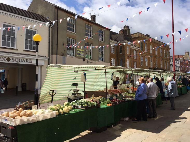 Markt in Daventry