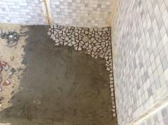 Der Duschenboden am Anfang