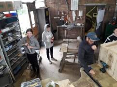 Anne, Anton und Martin am Arbeiten